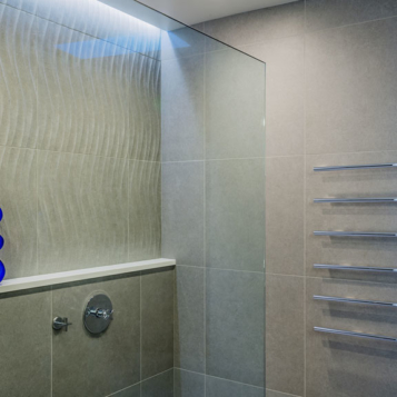 Modern custom shower