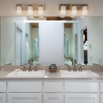 Custom double vanity