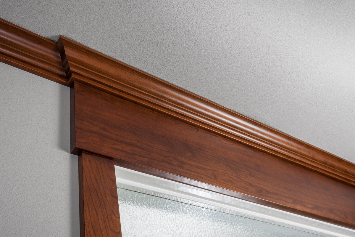 Country Living Custom Home - Cherry Trim Detail