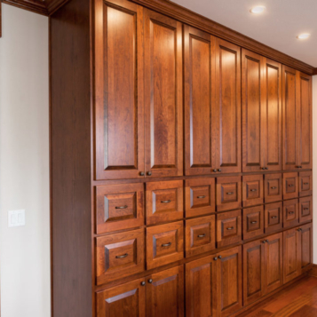 Country Living Custom Home - Office Cabinetry