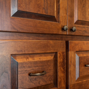 Country Living Custom Home - Office Cabinetry Detail