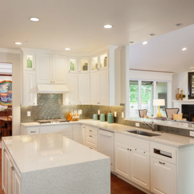 Light, bright island kitchen