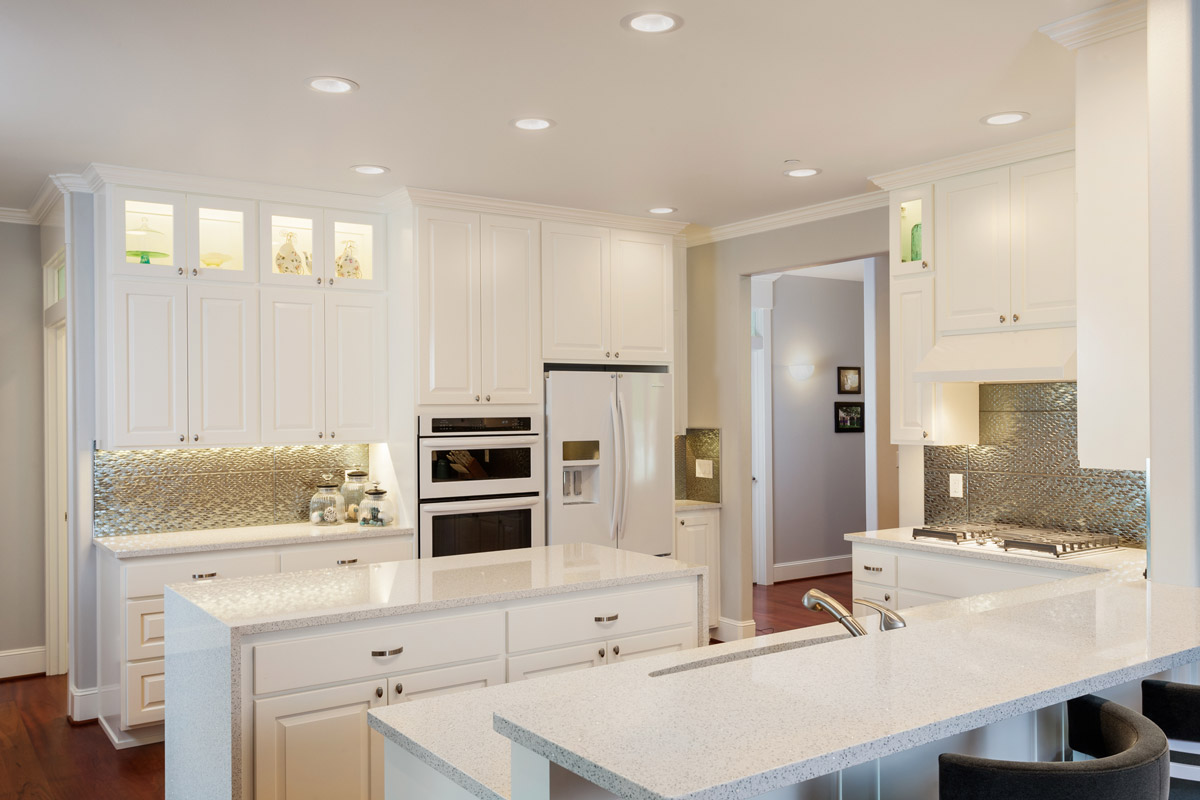 Light, bright island kitchen