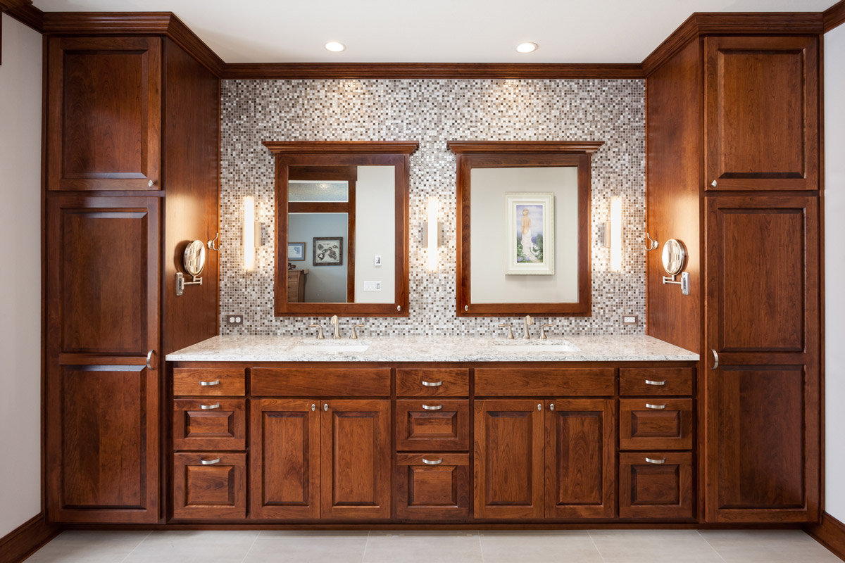 Custom built-in double vanity
