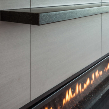 Country Living Custom Home - Fireplace Detail