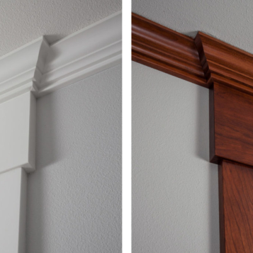 Country Living Custom Home - White & Cherry Trim Detail