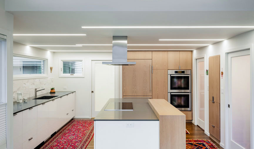Clean lines and modern kitchen