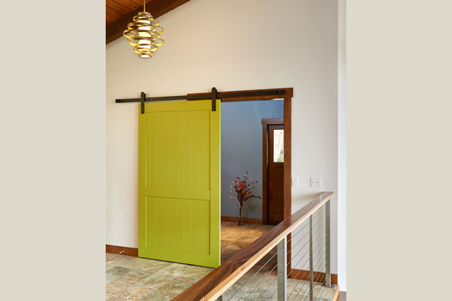 Lighting and color details in a whole-home remodel by W.L. Construction in Corvallis, Oregon.