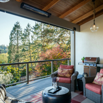 Corvallis Oregon Rural Covered Deck